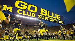 Michigan Football Run Out Banner