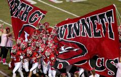 Custom run through banner for North Gwinnett HS