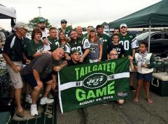 Custom applique Tailgater of the Game banner