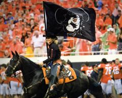 oklahoma state cheer flag coyboys