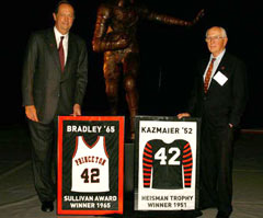 Princeton Honors Bill Bradley and Dick Kazmaier