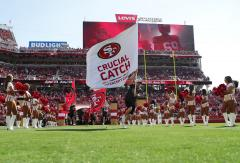 Applique run out flag for San Francisco 49ers