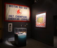Red Sox Championship banner for the Sports Museum