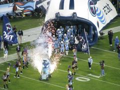 tennessee titans cheer flags football