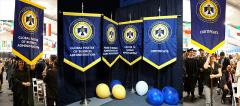 Hand sewn gonfalons for Thunderbird commencement