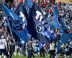 Tennessee Titans custom hand-sewn spirit flags