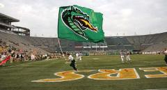 UAB Blazers football cheerleading flag