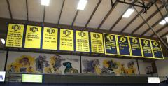UCO championship banners