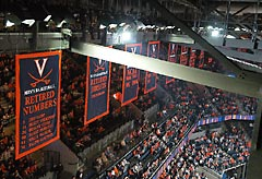 Appliqued University of Virginia Championship banners