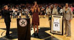 Senior day banner presentation at Vanderbilt