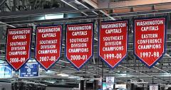 Championship banner set for the Washington Capitals