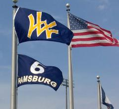 West Virginia hand-sewn stadium flags