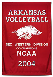 Arkansas Volleyball custom championship banner