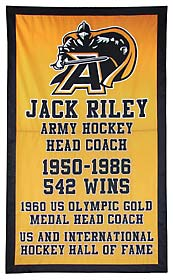 US Military Academy tribute banner to Coach Jack Riley