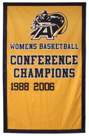 Army Womens Basketball Championship banner, applique
