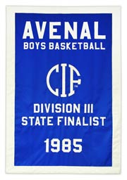 Custom Avenal high school state finalist banner