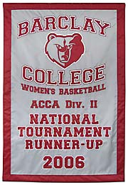 Custom Barclay College National Tournament banner