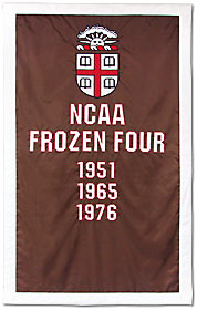 Custom Brown University NCAA Frozen Four banner