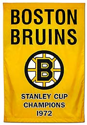Hand sewn Boston Bruins 1972 Stanley Cup Champions banner