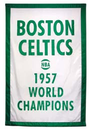 Boston Celtics 1957 World Champions fabric banner