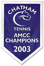 Custom applique Chatham Tennis championship banner