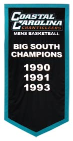 Custom Coastal Carolina University Big South Champions banner