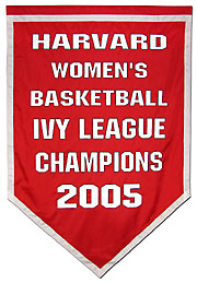 Harvard Womens Basketball Ivy League Champions banner
