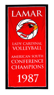 Custom Lamar University 1987 Conference Champions banner