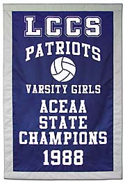 LCCS 1988 State Champions high school athletics banner