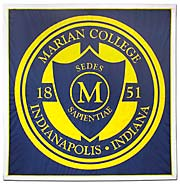 Custom school seal banner for Marian