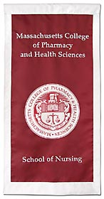 Custom school seal banner for Mass. College of Pharmacy