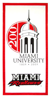 Miami University custom logo banner