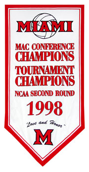 Custom Miami University 1988 achievement banner