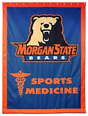 Applique Morgan State Sports Medicine custom banner