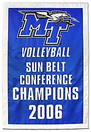 Hand sewn MT 2006 Conference Champions banner