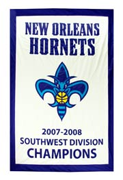 Custom New Orleans Hornets 2007-2008 Division Champions banner
