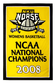 Applique Northern Kentucky University 2008 NCAA National Champions banner