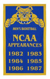 North Carolina NCAA add-a-year championship banner