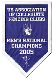 Custom Northwestern 2005 National Champions banner