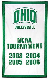 Hand-stitched Ohio NCAA Tournamnet add-a-date banner