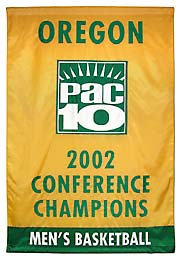 University of Oregon Conference Champions custom banner