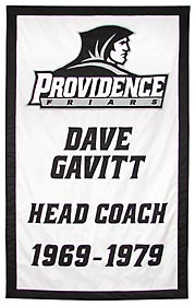 Providece College tribute banner to Coach Dave Gavitt