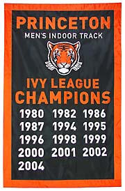 Hand-sewn Princeton Mens Track Ivy League Champions banner