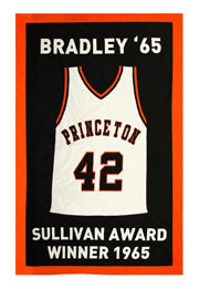Princeton Retired jersey custom banner for Bill Bradley