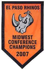 Tournament Logo Custom El Paso Rhinos Conference Champions Banner