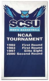 Applique Southern Connecticut NCAA Tournament banner