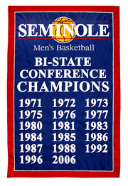 Florida Seminoles Conference Champions add-a-year custom banner