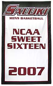 Custom Southern Illinois University Salukis NCAA Sweet Sixteen banner