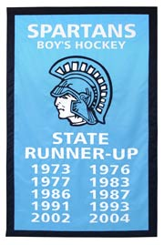 Custom Spartans Boys Hockey add-a-year banner