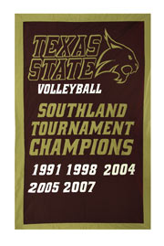 Applique Texas State Tournament Champions add-a-year banner